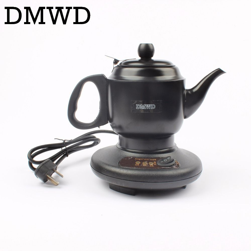 DMWD Stainless steel Thermal insulation electric kettle teapot 0.6L 450W automatic hot water heating boiler tea pot EU US plug