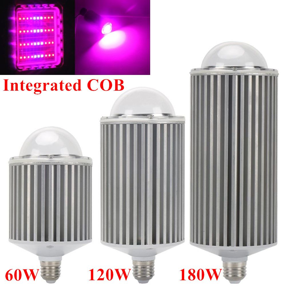 180W 120W 60W E27 Full Spectrum COB Led Grow Lights For Hydroponics Cultivation Flowers Medical Indoor Plants Grow <font><b>Tent</b></font> Lighting