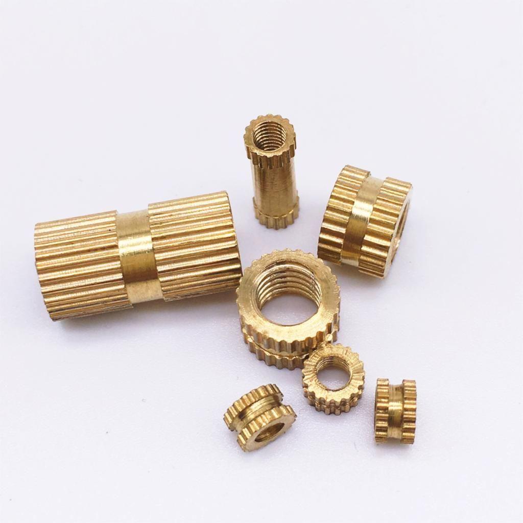 M3 x 5 x 10 Insert round nuts Brass Rohs PASS 1000 pieces