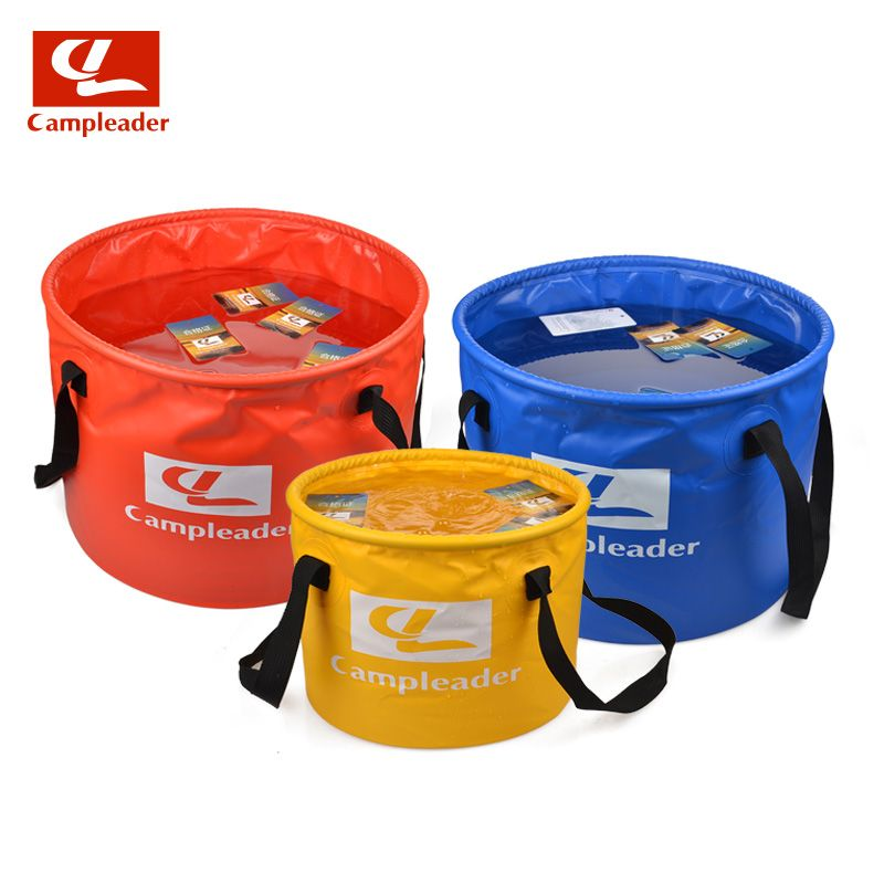 Campleader Foldable Water Bucket 10-30L Car Wash Camping Fishing Cleaning Foldable Bucket Products Retractable Water Bags CL027