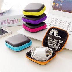 MIRUI Clip Clip Holder Distributeur Bureau Organisateur Sacs Casque Écouteur Câble Écouteurs Pochette De Rangement sac couleur aléatoire