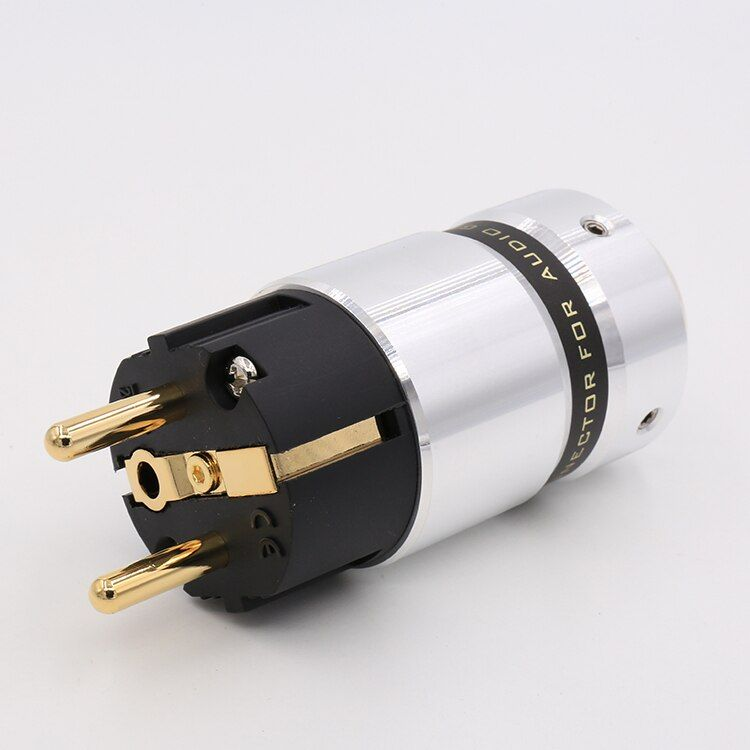 Hi End VE507G Audio Hi-End 24k Gold Plated Schuko Power plug DIY Mains power cable