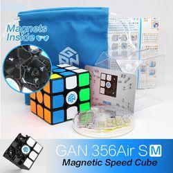 Gan 356 Air SM Kecepatan Cube Magnetik Posisi Superspeed Magneto 3X3 Cubo Magico Gan356 Air SM 3X3X3 Magnetic Cube Magic Cube