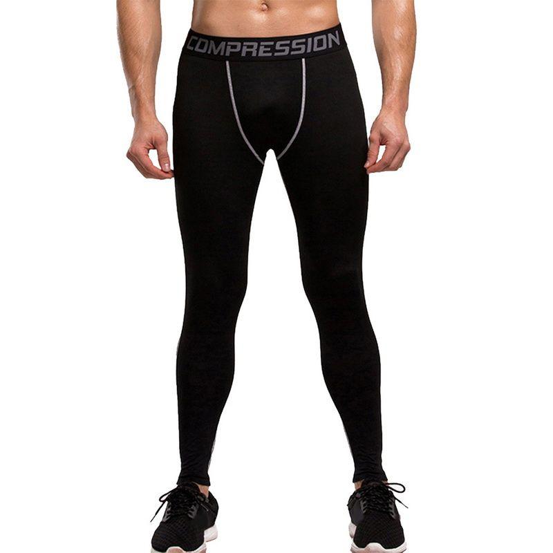 CALOFE Fitness Men Running Tights New High Elastic Compression Sports Leggings Quick Dry Training Pants Gym Socks Plus Sizes