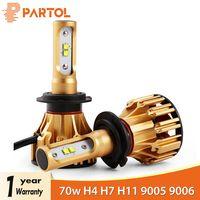 Partol T6 H4 H7 H11 9005 9006 H13 H1 автомобиля светодиодный Фары для авто 70 Вт 7000lm SMD автомобильных фар передние фары 6500 К 12 В 24 В