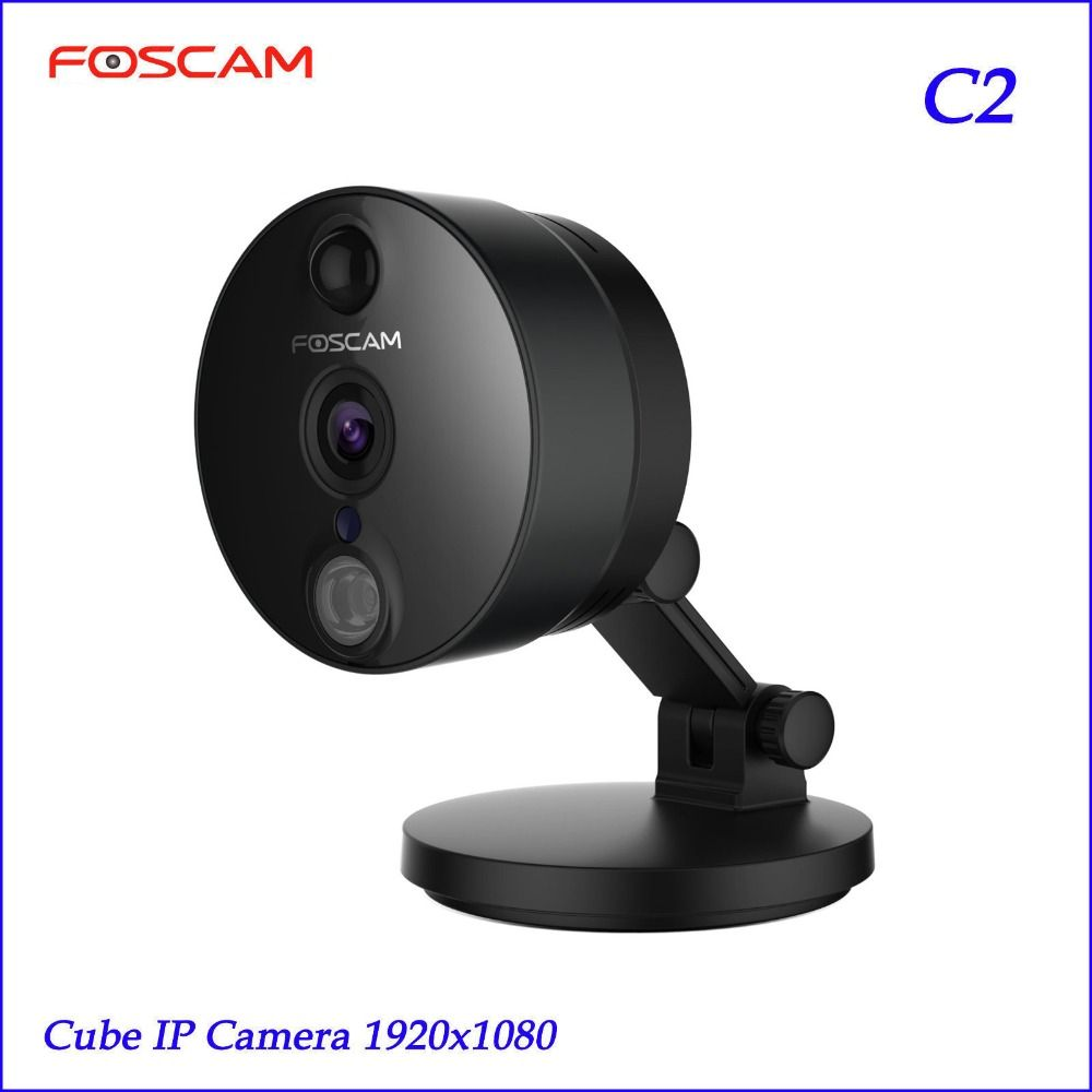 2018 Foscam C2 HD 1080P WiFi Security IP Camera with iOS/Android App Night Vision PIR Motion Detection Black