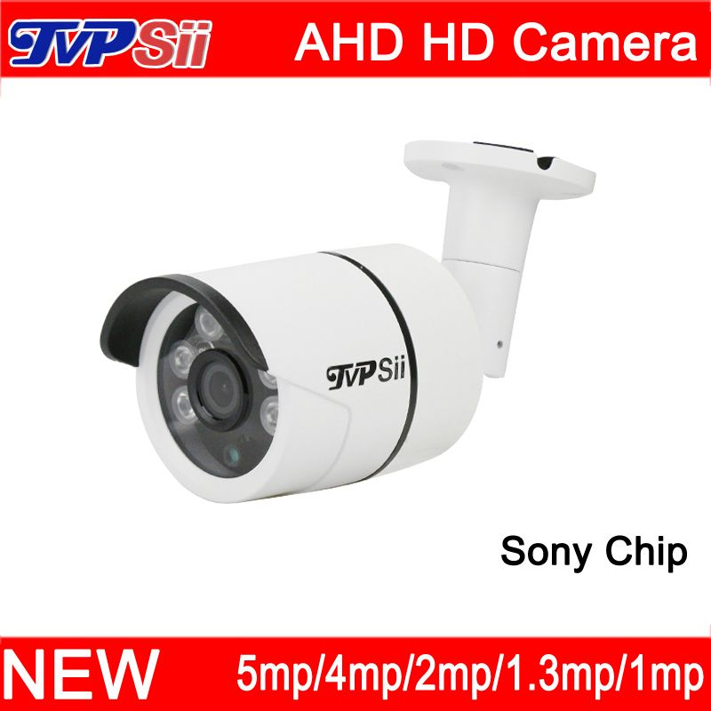 4pcs A Lot Six Array Leds 5mp/4mp/2mp/1.3mp/1mp Outdoor Sony Chip Waterproof Surveillance AHD Security CCTV Camera Free Shipping