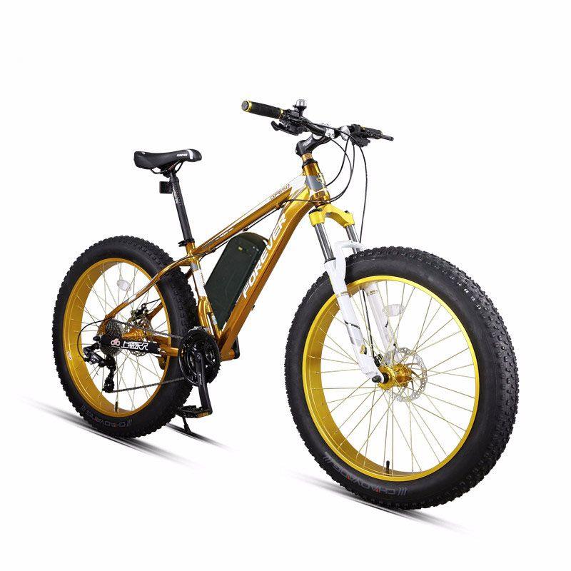 26 zoll Elektrische mountainbike Schnee ebike fett Leistungsstarke Elektrische bike MTB 48V1500W ebike 27 speed off-road 4,0 fett reifen