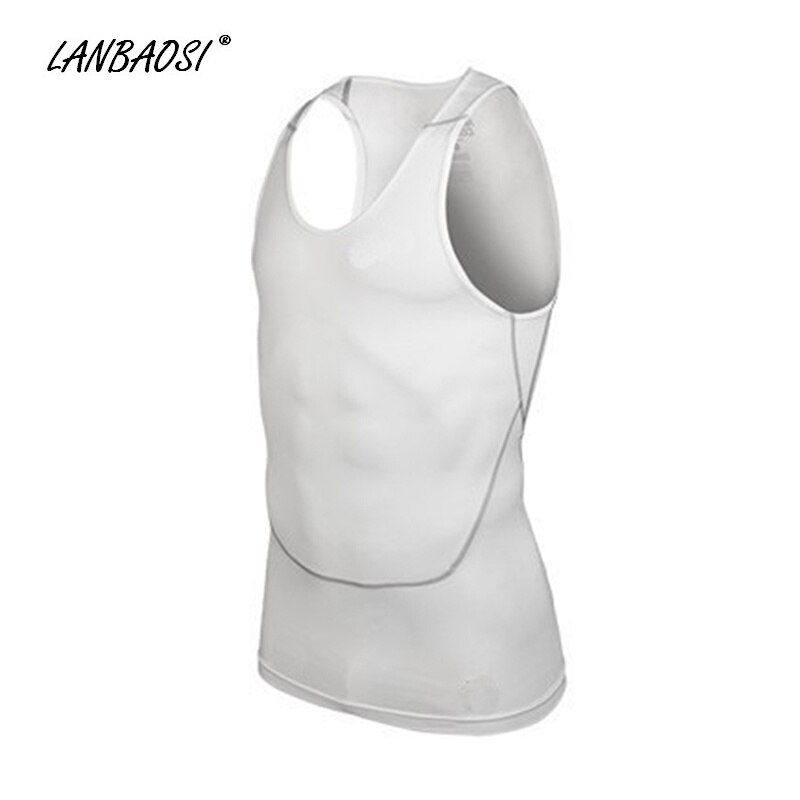 LANBAOSI Men's Compression Running Vests Tank Tops Quick Dry Cool PRO Basketball Fitness Workout Training Gym Bodybuilding