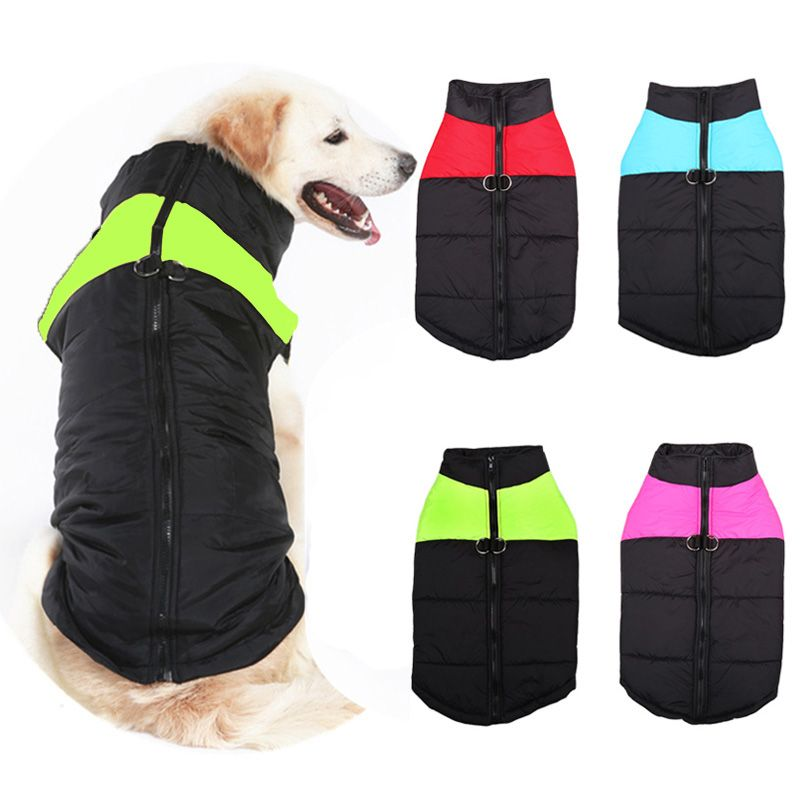 4 цвета Pet Одежда для маленьких Средний Большой Товары для собак жилет Зимний теплый Водонепроницаемый собака пальто Куртки S-5XL