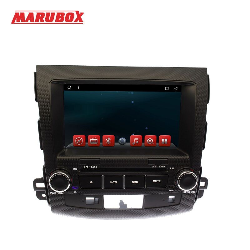 MARUBOX M8007 Car DVD Player for Mitsubishi Outlander 2006~2012 1024X600 Core Android 6.0.1 Radio GPS BT wifi 1GB RAM 16GB ROM
