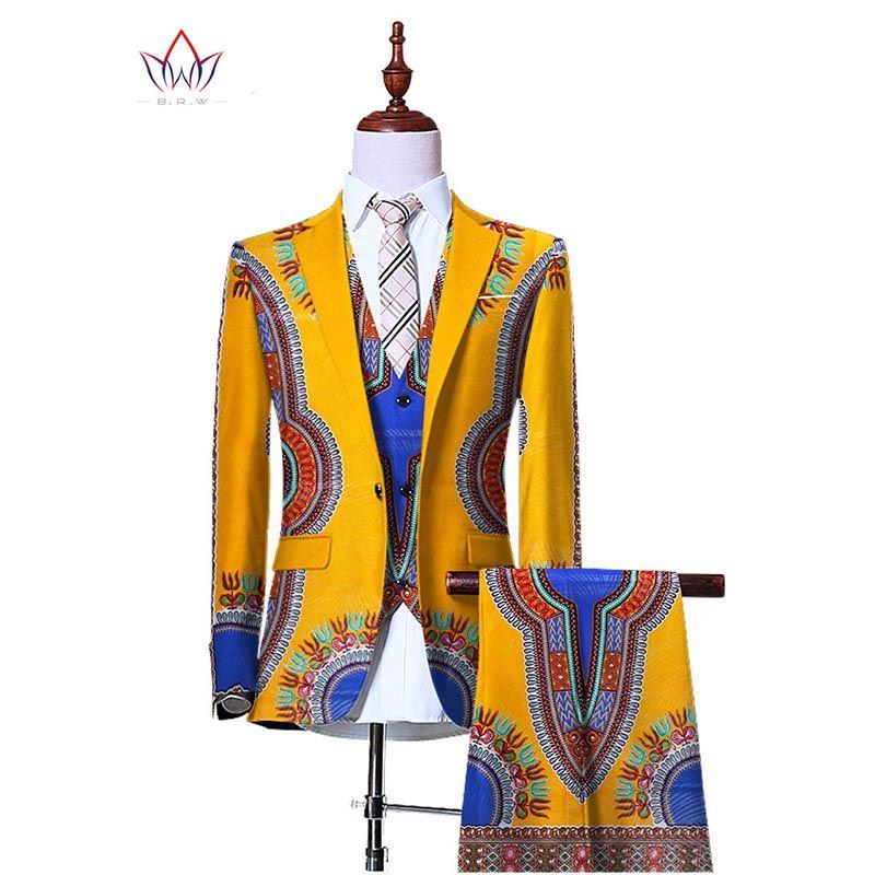 (Jacke + Weste + Hosen) Blazer für Männer 3 Stück Slim Fit Cowboy Hochzeit Männer Anzug Retro Gentleman mens Afrikanische Kleidung 6XL WYN230