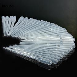 100 Pcs/ensemble 3 ML Transparent Pipettes Jetable Sûr En Plastique Eye Dropper Transfert Graduées Pipettes pour L'expérience De Laboratoire Fournitures