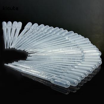 100PCS/set 3ML Transparent Pipettes Disposable Safe Plastic Eye Dropper Transfer Graduated Pipettes for Lab Experiment Supplies