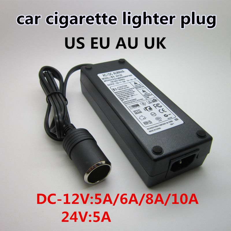 Voiture allume-cigare AC adaptateur 110V 220V à 12 V 5A 6A 8A 10A adaptateur de puissance convertisseur onduleur DC T transformateur briquet 12 volts