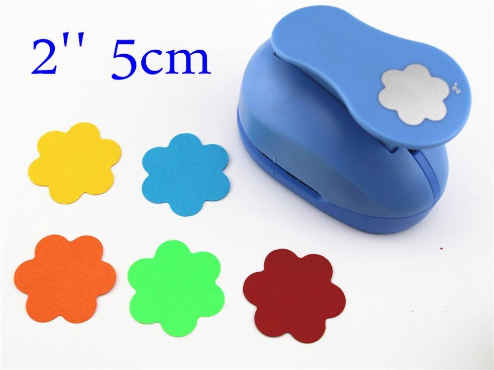 2 ''5 cm flor Sacador del arte de DIY perforadora de papel juguetes de los niños