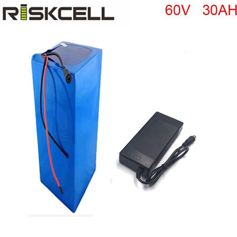 Batterie rechargeable 18650 de puissance élevée de 60 v 30ah batterie au lithium de 60 volts 3000 W pour le système solaire/UPS
