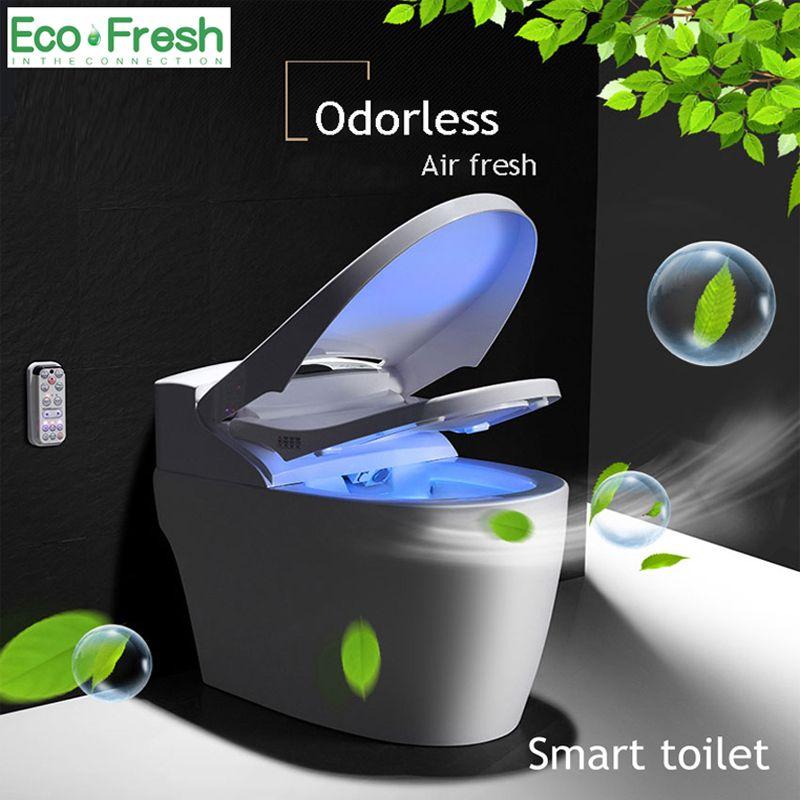 EcoFresh wc Smart wc integrierte automatische instant wasser intelligente toilette abdeckung waschen trockenen massage fernbedienung