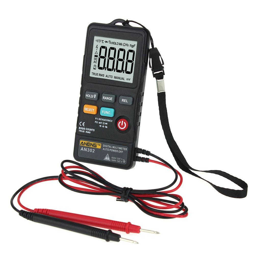 AN302 Multi-funktion Taste Typ Multimeter + Tragbaren Strap + Messung Daten Linie Logistik Multimeter Werkzeug P10