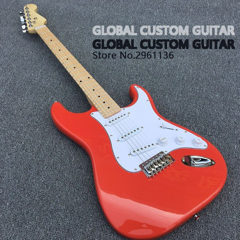2017 China's guitar Factory direct sale,High quality, ST electric guitar,wholesale,Real photos,free shipping Promotional offers