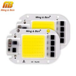 [Mingben] 2 unids bombilla led cob chip 20 W 30 W 50 W LED chip 230 V entrada IP65 Smart IC para DIY LED Flood luz fría blanco caliente blanco