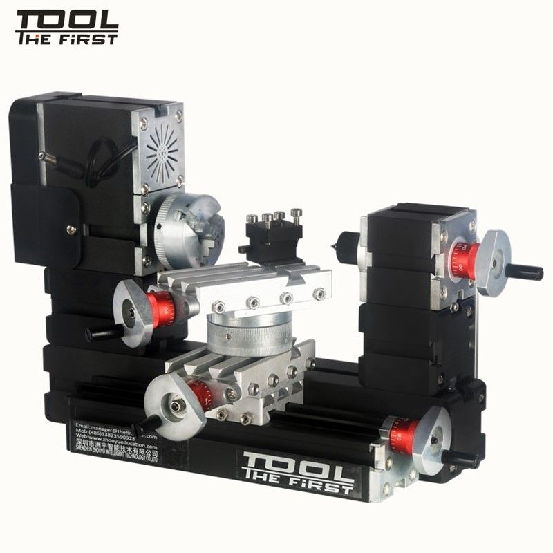 Thefirsttool TZ20002MR Big Power Mini Metal Rotating Lathe 12000rpm 60W Motor Larger Processing Radius DIY Tool Children's Gift