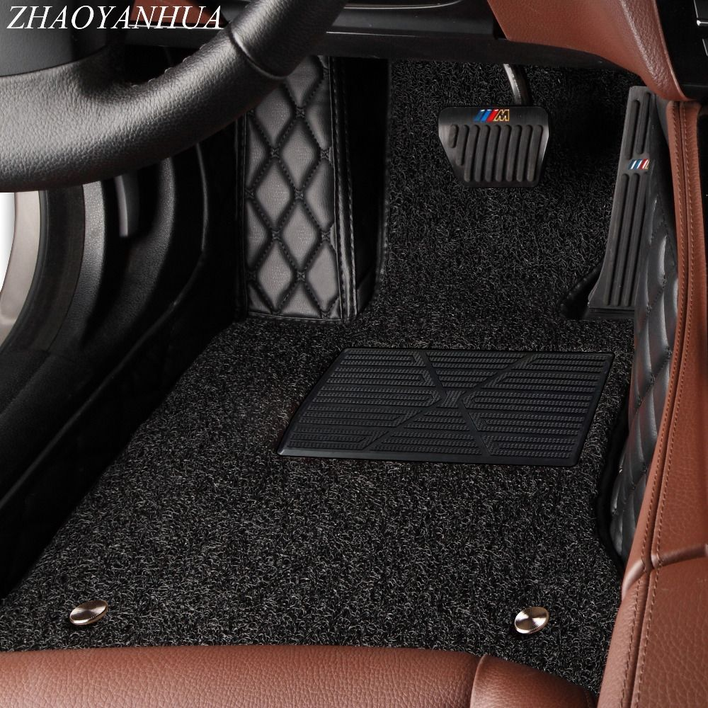 ZHAOYANHUA Car floor mats for Toyota Land Cruiser Prado 150 120 Corolla 5D all weather car styling carpet floor liners(2002-)