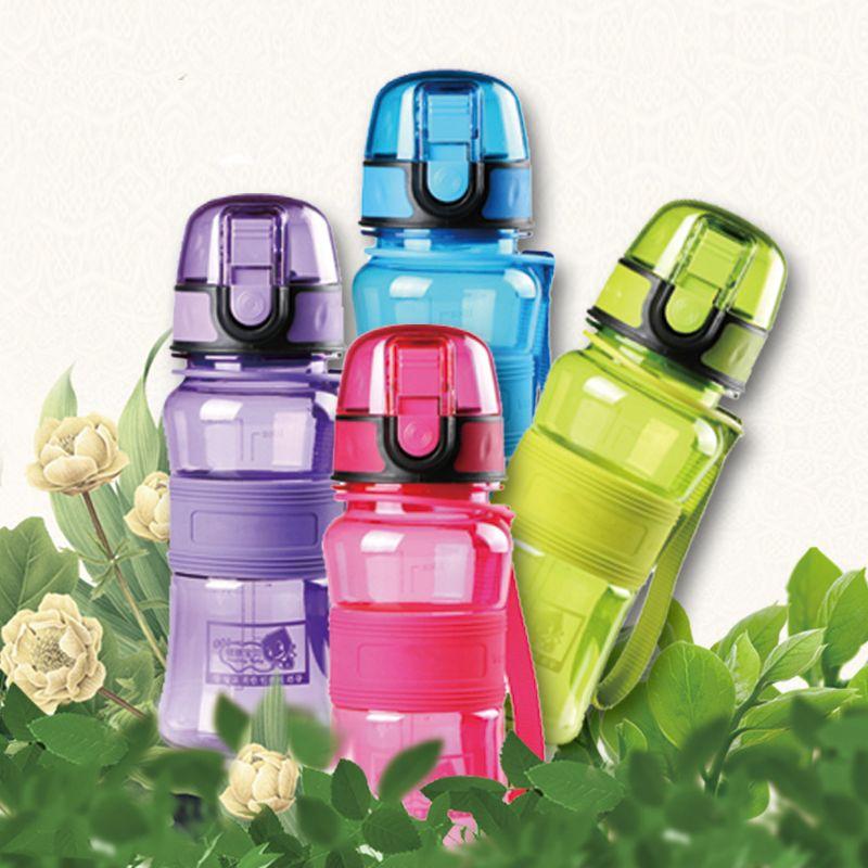 Vente chaude 300 ML BPA Livraison Creative Portable En Plastique Bouilloire Enfants de Tritan Espace jus Mon Eau Bouteille Pop- up Couvercle Thé Infuser