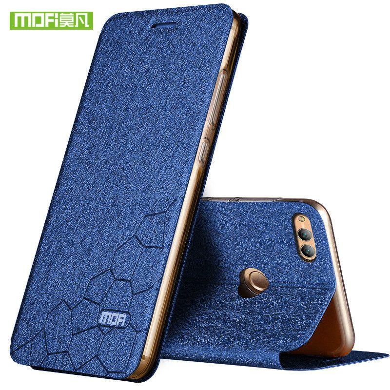 Nouveau Pour huawei honor 7x housse silicone de luxe flip en cuir d'origine mofi honor 7x cas pour huawei honor 7x cas 360 protéger