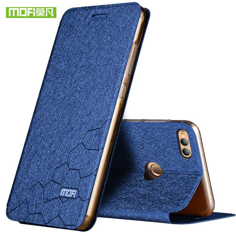 Nouveau pour huawei honour 7x housse silicone luxe flip cuir original mofi honour 7x étui pour huawei honour 7x étui 360 protect