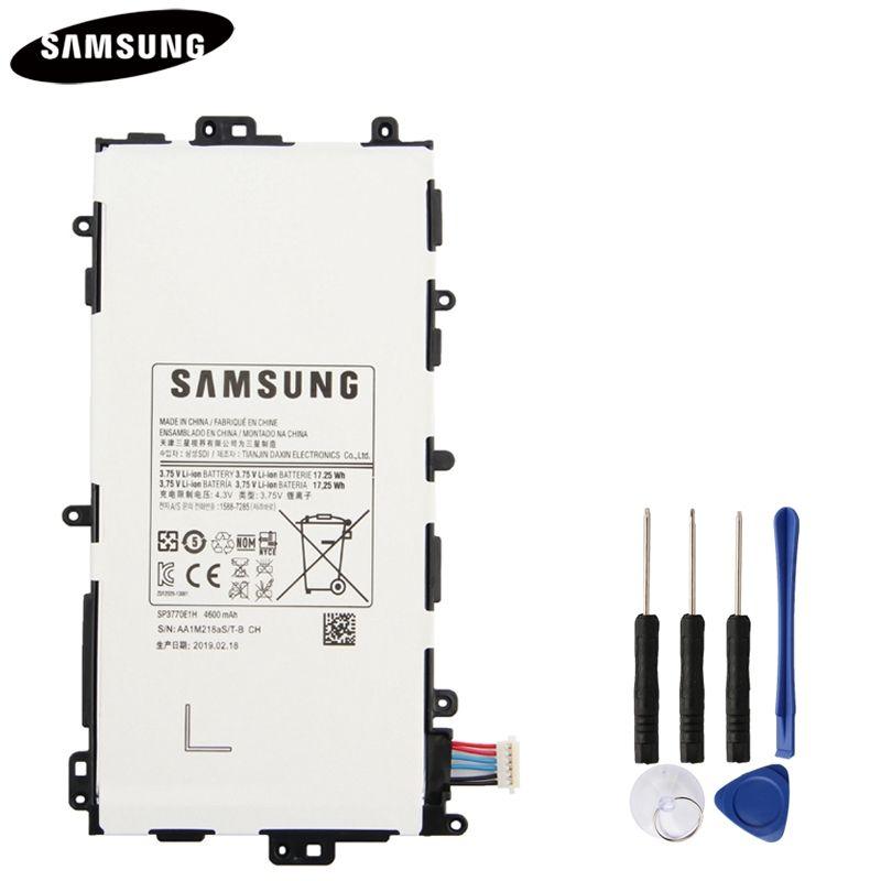 100% batterie de tablette d'origine SP3770E1H pour Samsung N5100 N5120 Galaxy Note 8.0 N5110 Batteries de remplacement d'origine 4600 mAh