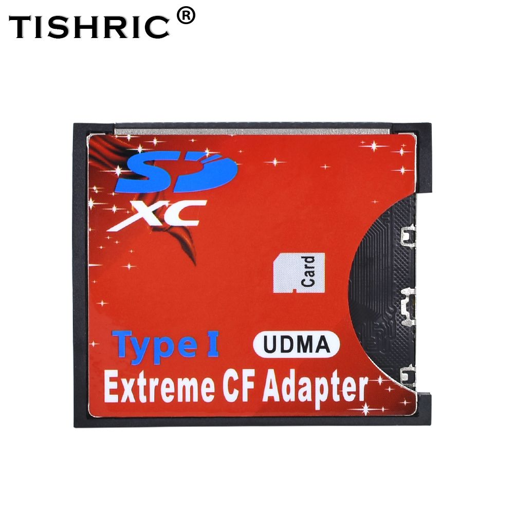 TISHRIC WiFi SD to CF Card Adapter MMC SDHC SDXC to Standard Compact Flash Type I Card Converter UDMA Card Reader For Camera