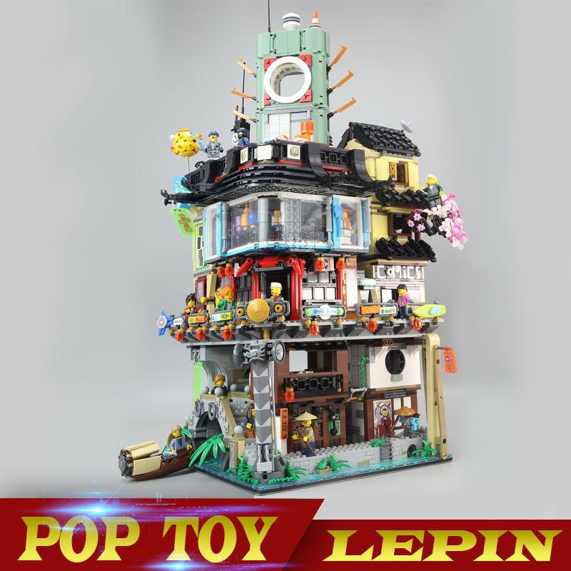 New Arrival 4867pcs Lepin 06066 Ninjago City Masters of Spinjitzu Building Blocks Bricks Toys 70620