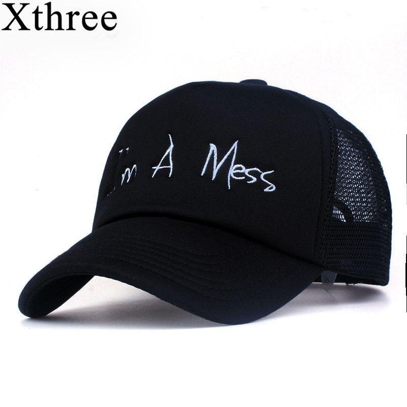 Xthree new mesh baseball cap summer girl snapback hat for men women gorra bone casual casquette 5 panels Adjustable