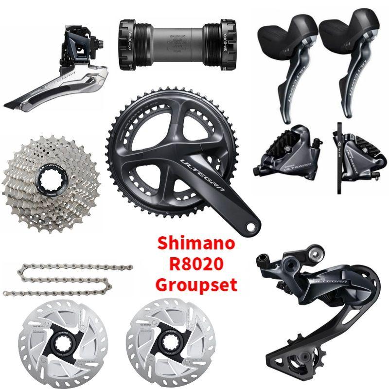 Shimano Ultegra R8020 R8070 11 Fach-gruppe Straße Disc Bremse Groupset