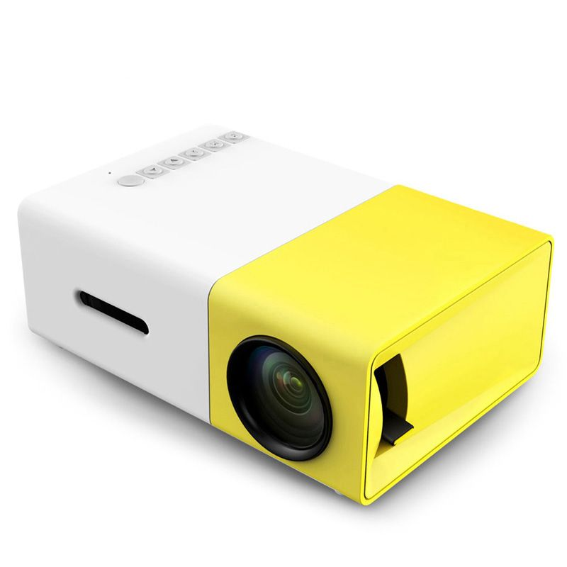 YG300 YG-300 LCD LED Portable Projector Mini 400-600LM 1080p Video 320 x 240 Pixel Media LED Lamp Player <font><b>Best</b></font> Home Protector