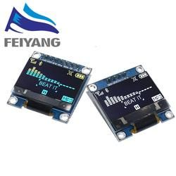 4pin 7pin White/Blue/Yellow Blue color 0.96 inch 128X64  OLED Display Module For Arduino 0.96