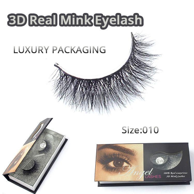 Naturel 3D 100% réel vison faux cils/vison individuel faux cils Extensions pour le maquillage livraison gratuite 2016 M010