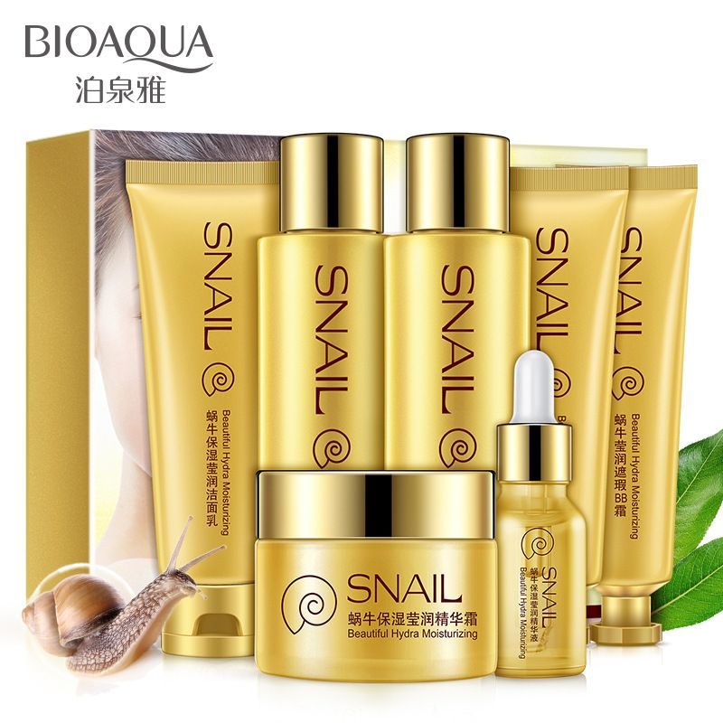 Snail Cream Nourishing Moisturizing Seven Sets Facial Care Acne Treatment Whitening Pigmentation Corrector