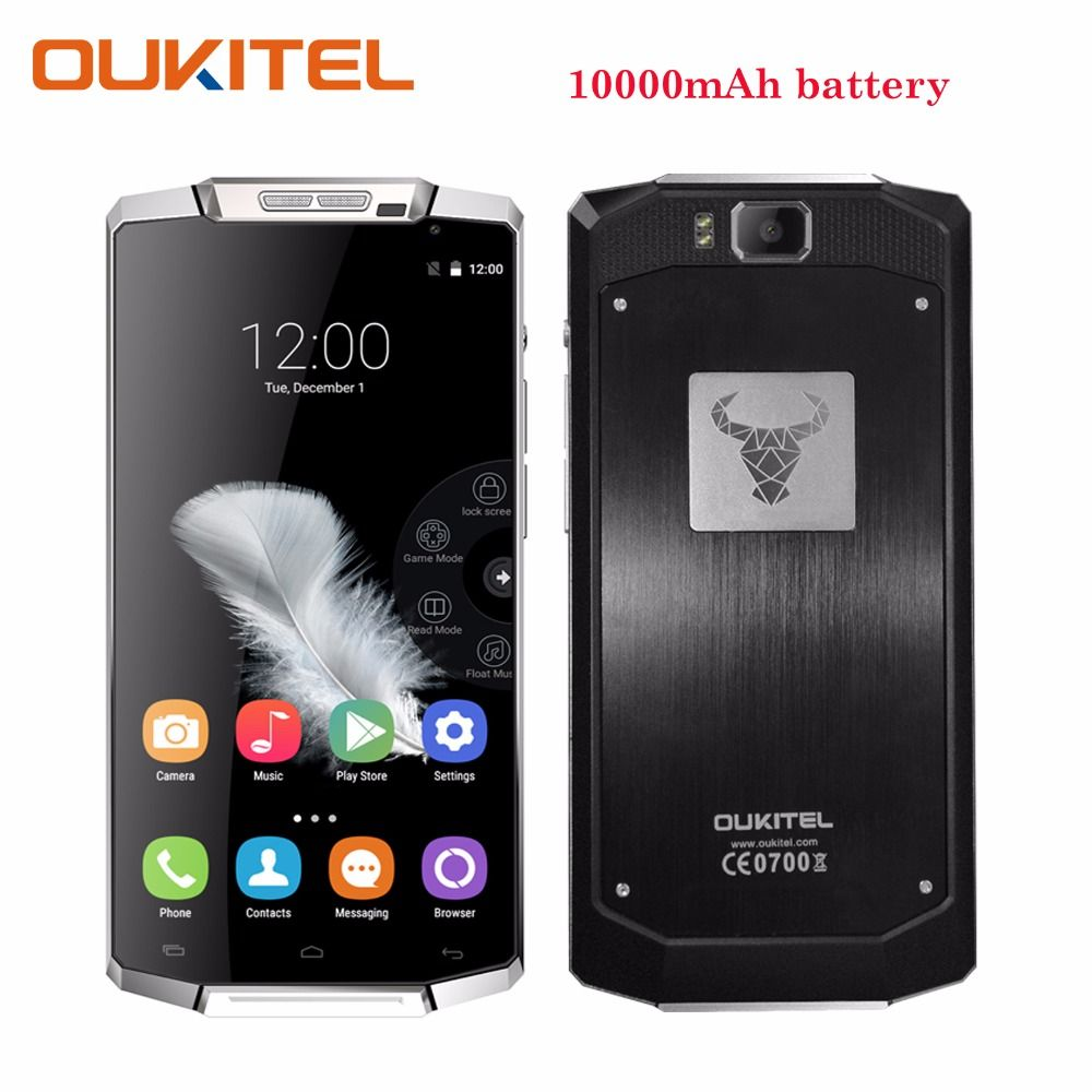 Oukitel K10000 Smartphone 5.5 Inch 2GB RAM 16GB ROM 13MP Camera Android 6.0 Battery 10000 mAh Telefone Celular 4G Mobile Phone
