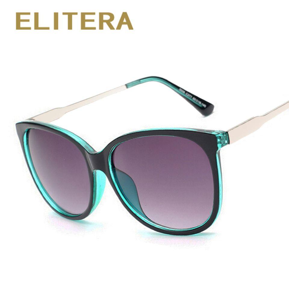 Elitera 2017 de luxe femmes lunettes de soleil de mode ronde dames vintage rétro marque designer surdimensionné femelle sport soleil lunettes marée