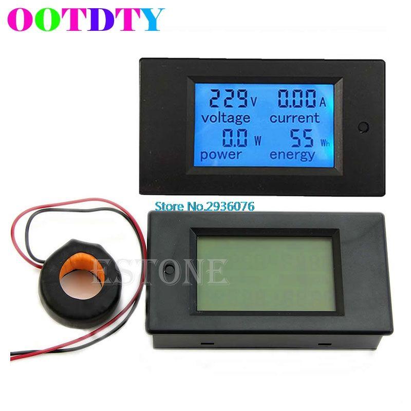 LCD Panneau AC Power Meter AC 80-260 V 100A 4 dans 1 Numérique LCD Volt Ampère Watt Compteur D'énergie AC Voltmètre ampèremètre