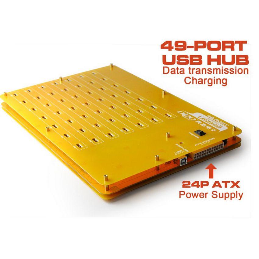 Eyeboot 49 Port HUB Salut-Vitesse USB 2.0 Hub 24 P ATX PSU pour Multi Chargeur Base De Chargement