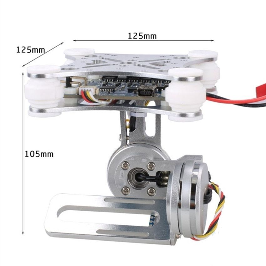 for Gopro SJCAM XIAOMI YI Action Camera Eken 2-Aixs 2D Brushless Camera Gimbal for F450 F550 S500 FPV Drone Quadrocopter