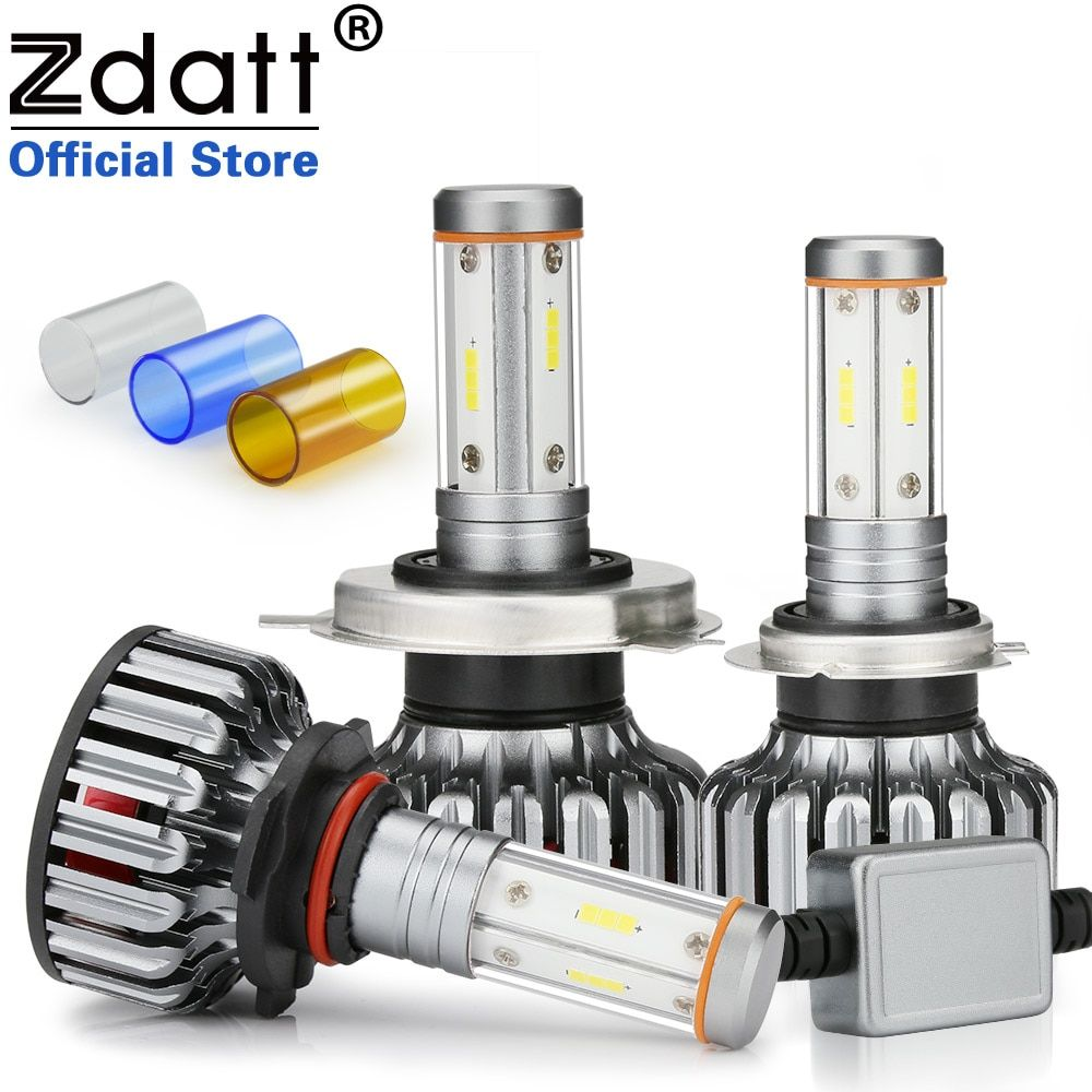 Zdatt 4 Sides 12000Lm H7 Led Canbus H4 LED Bulb H11 100W Headlight H8 9005 HB3 9006 3000K 6000K 8000K Car Lights 12V 24V CSP