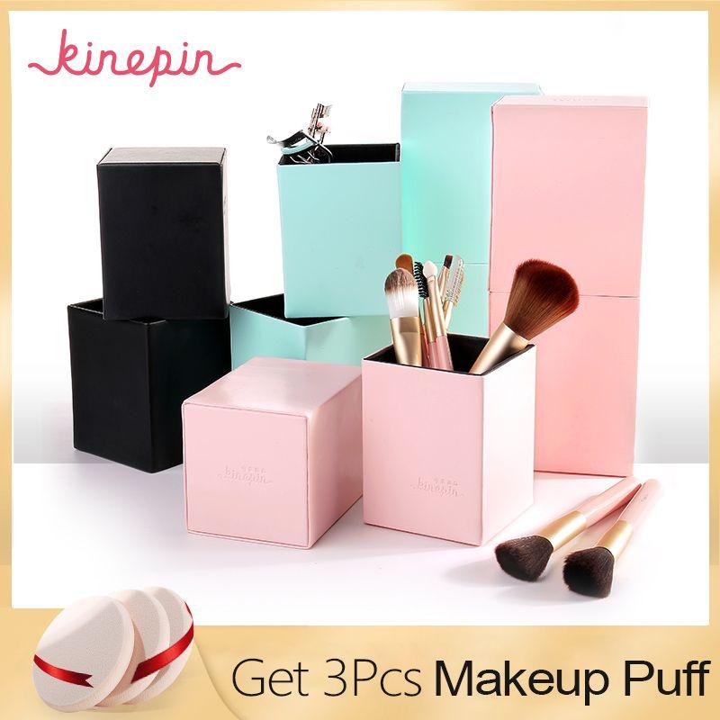 KINEPIN Maquillage Brosses Titulaire Magnétique Make Up Brush Pen Titulaire Cosmétique Outil Organisateur Vide Portable PU Récipient En Cuir