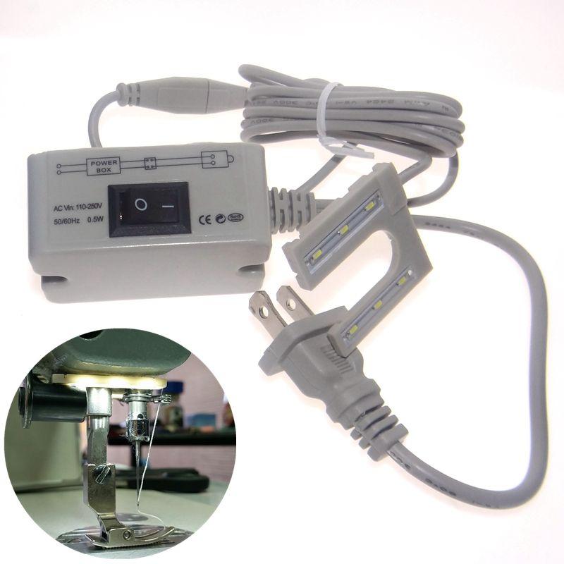 Barre de LED accessoires de machines-outils à coudre lampes légères en forme de U lampe de Table de travail de bureau 110 220 v tension base de montage magnétique