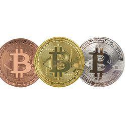 1 unid 38mm colección moneda bitcoin oro plateado bronce Bitcoins física casascius bitcoin BTC regalo de Año Nuevo Monedas
