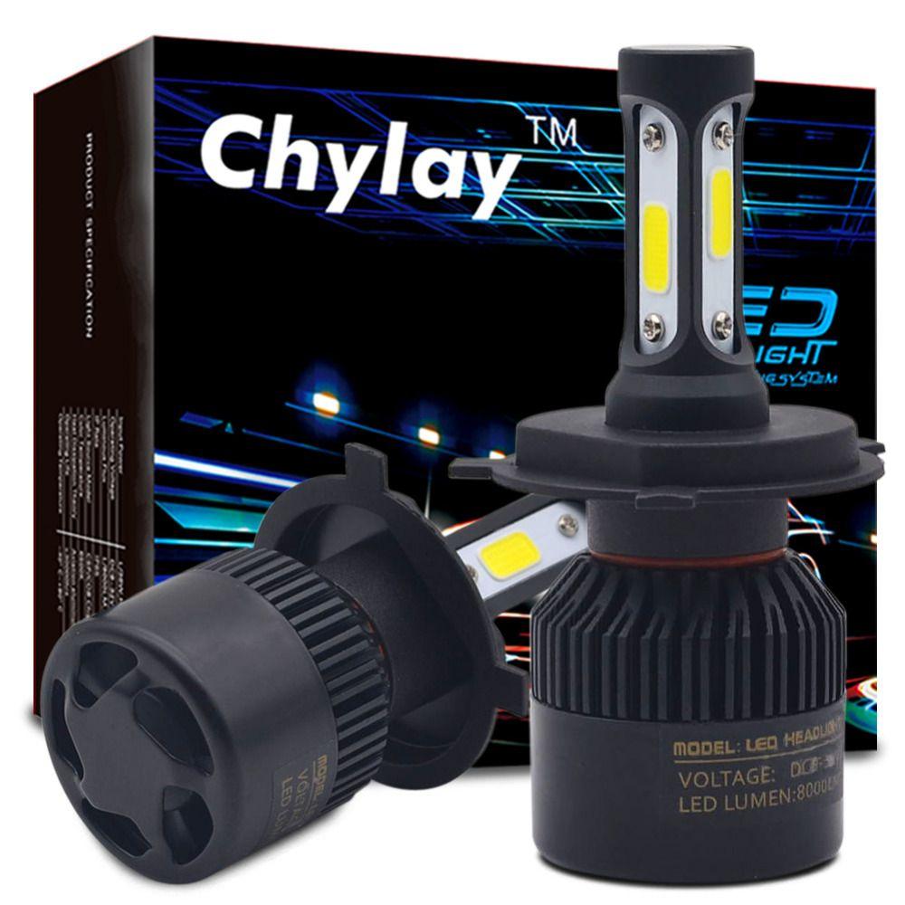 One Set H7 Led H4 H1 H3 H11 H13 9005 9006 9007 881 LED Car Headlights 72W 8000LM Automobile Head Lamp Fog Light Bulb 6500k