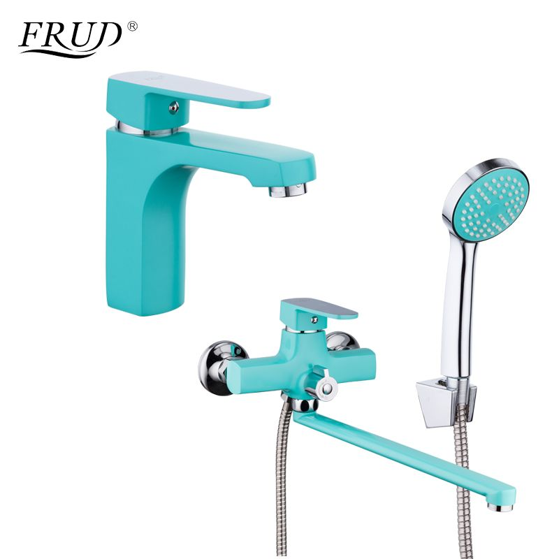 FRUD New Arrival Bathroom Combination Basin Faucet and Shower Faucet Single Handle Cold and Hot Water Mixer R10303-2+R22303